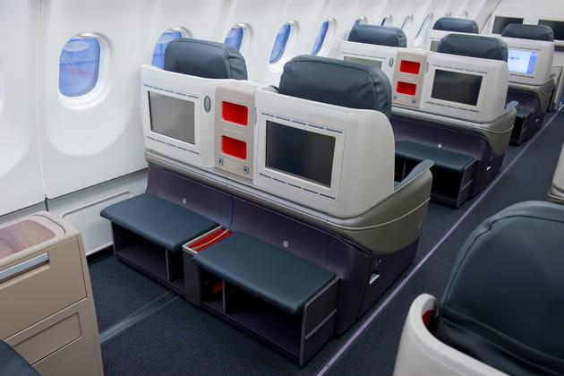 Business Class: des sièges bien équipés