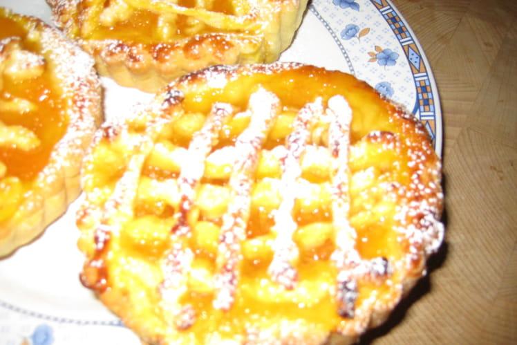 Tartelette à la compote d'abricots