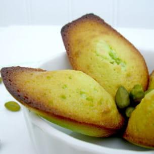 madeleines à la pistache