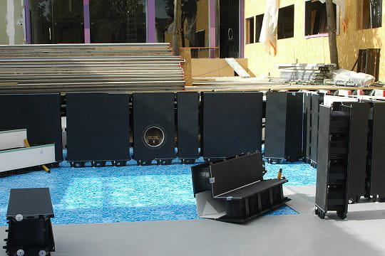 Caméra dans la piscine