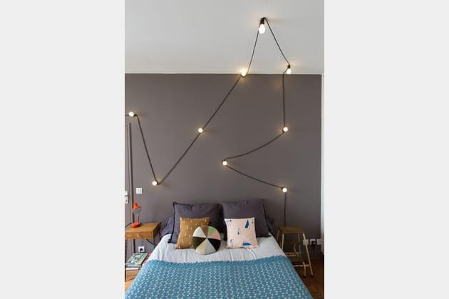 Un fil et des ampoules