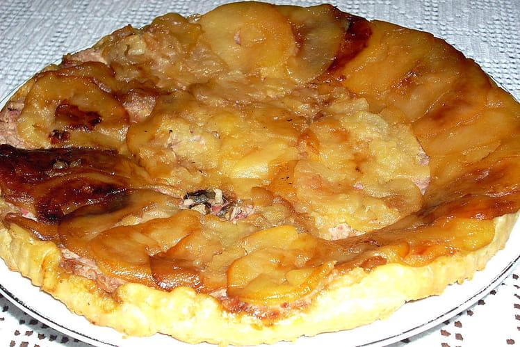Tatin de pommes à l'andouille de Guéméné