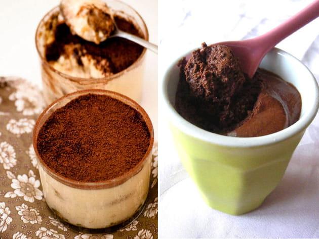 Tiramisu ou mousse au chocolat ?