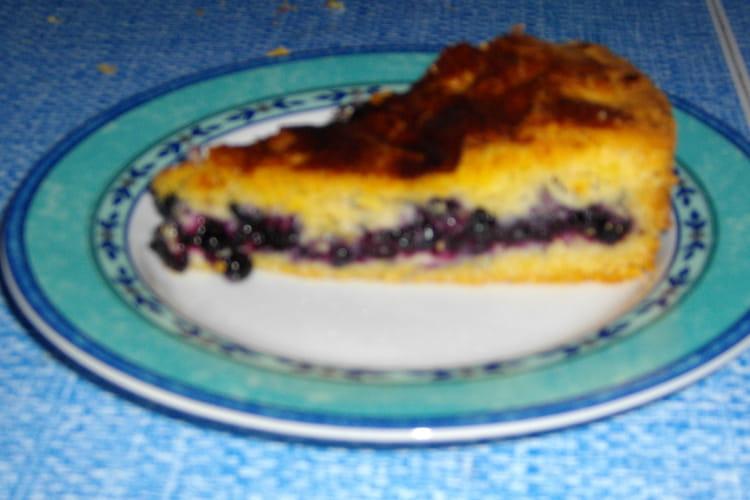 Gâteau basque aux myrtilles