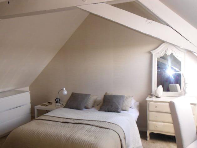 Chambre beige et blanche for Deco chambre blanche