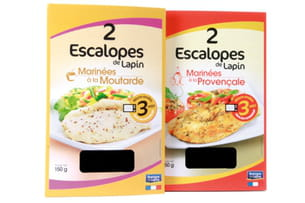 escalopes de lapin micro-ondables