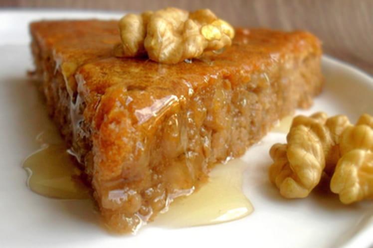 Gâteau aux noix et au miel