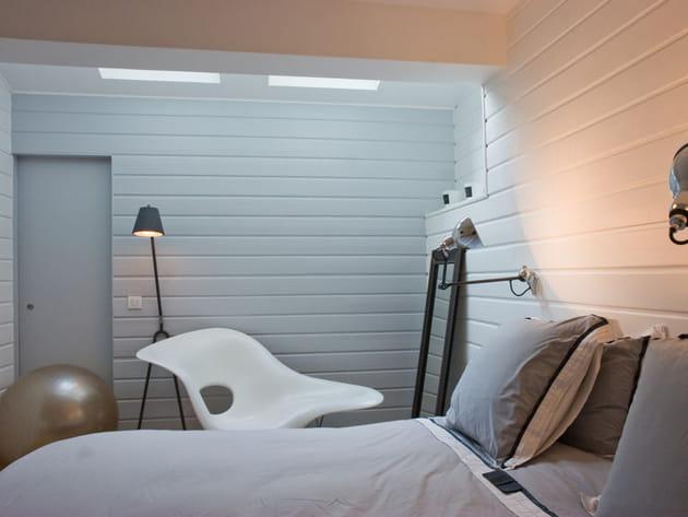 chambre design la d co n o industrielle. Black Bedroom Furniture Sets. Home Design Ideas