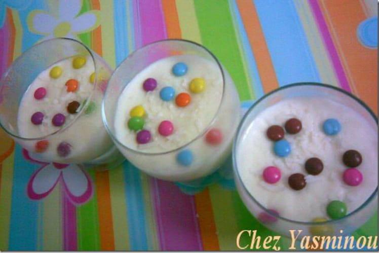 Crème coco glace et Smarties