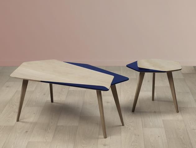 Une table basse asymétrique