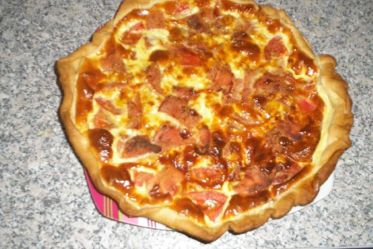 Quiche tomate, maïs et bacon
