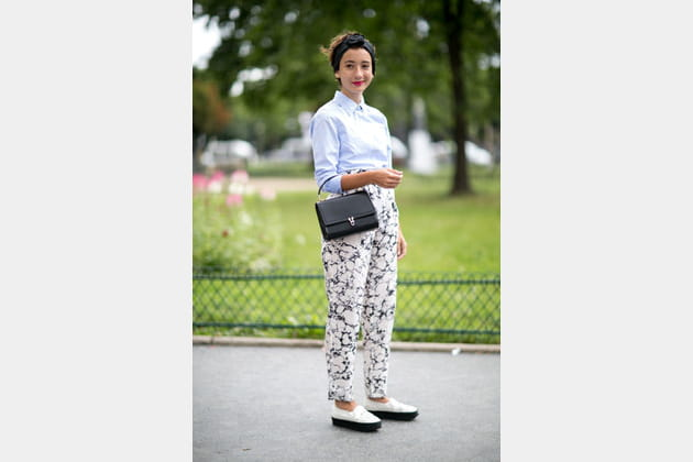 Street looks fashion week haute couture : preppy