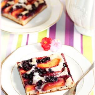 gâteau nectarines-myrtilles