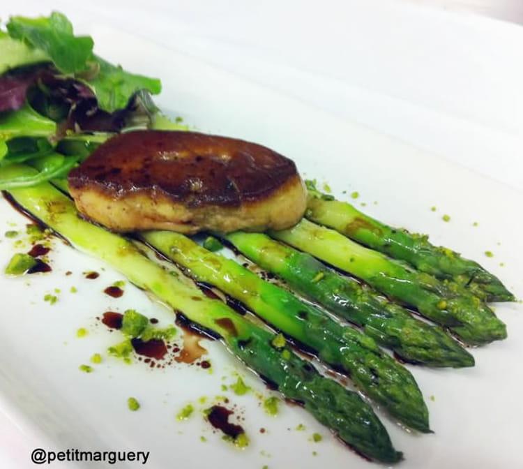 Recette asperges vertes et foie gras de canard po l la - Cuisiner les asperges vertes ...