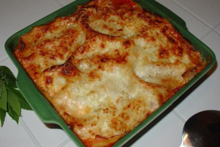 Lasagnes aux courgettes, mozzarella et parmesan