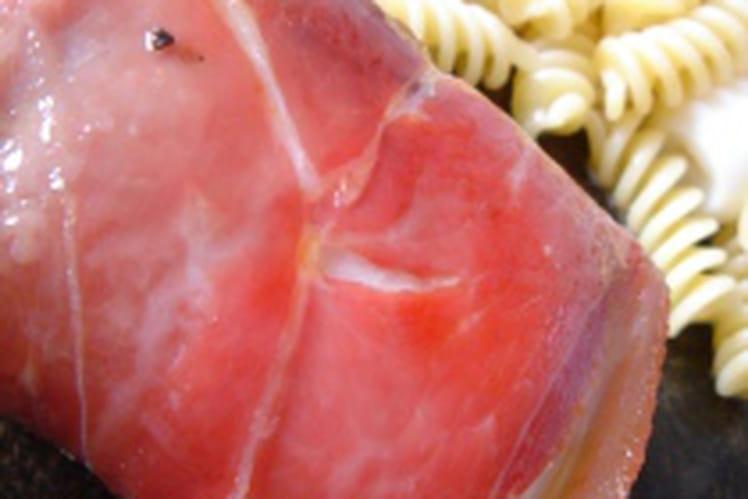 Papillotes d'escalopes au jambon de Bayonne
