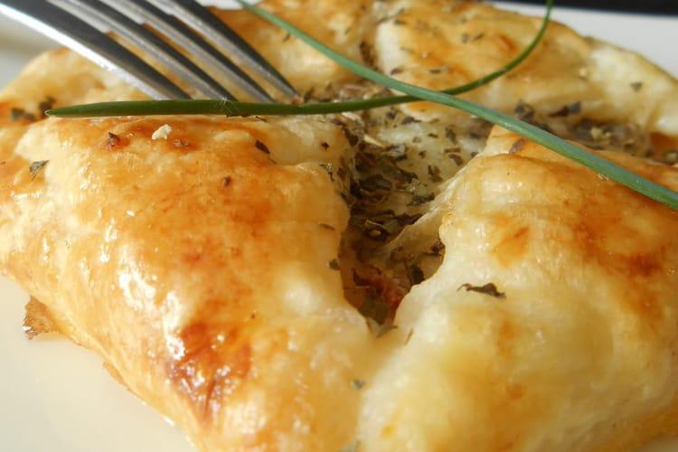 Feuilletés au chorizo et mozzarella