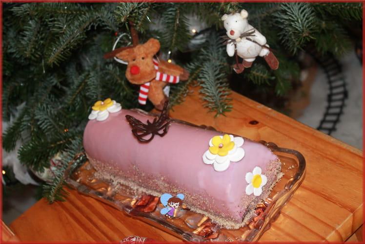 Bûche fruits rouges et chocolat