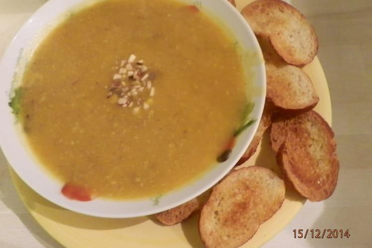 Soupe au potimarron et aux champignons