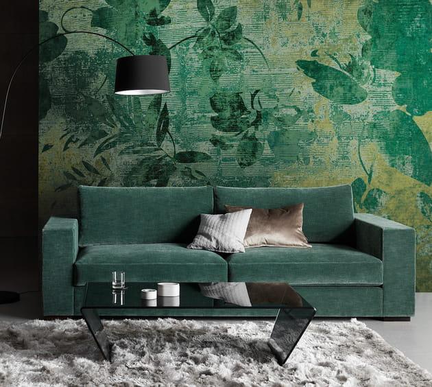 Le canapé vert forêt