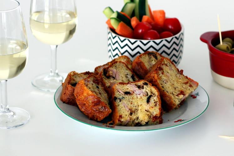 Cake Rôti de Porc Tomates Séchées et Olives Noires