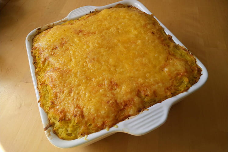 Gratin de courge spaghetti coco curry