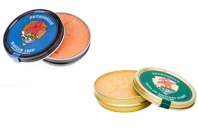 Les Oeufs de brochet fumés et le Maviar 1950® de Petrossian