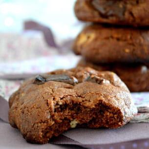 cookies tout chocolat à l'huile de coco