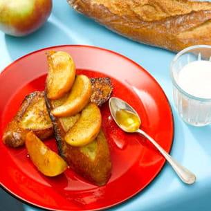 pain perdu miel, cannelle et pomme