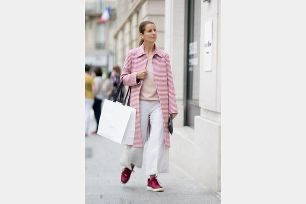 Street style à Paris : la jupe culotte immaculée