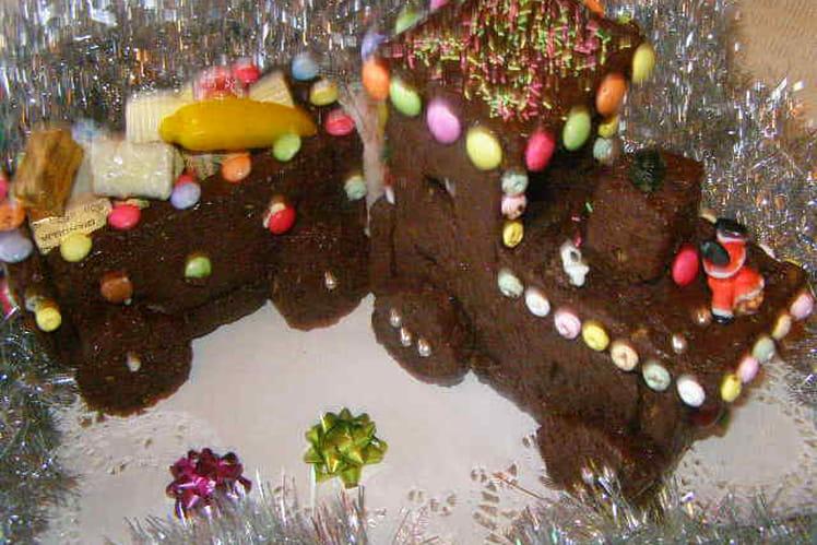 Train de pain  d'épices glacé au chocolat