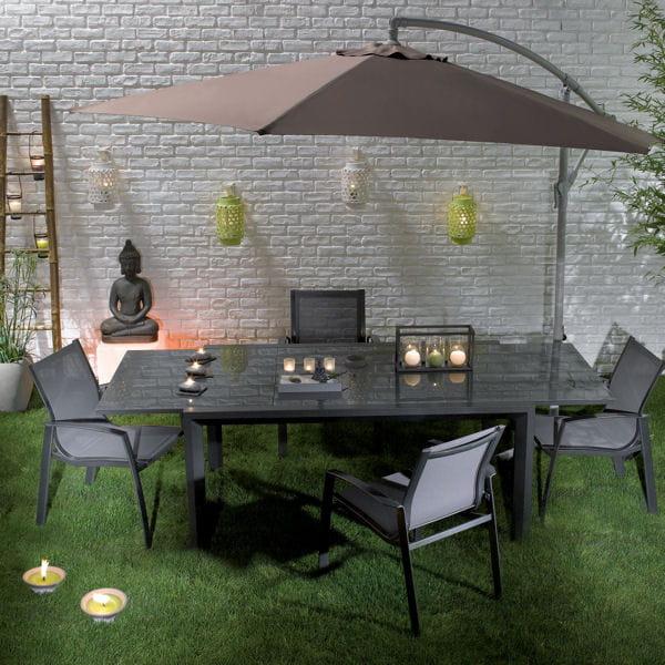 table dessus en verre de conforama. Black Bedroom Furniture Sets. Home Design Ideas