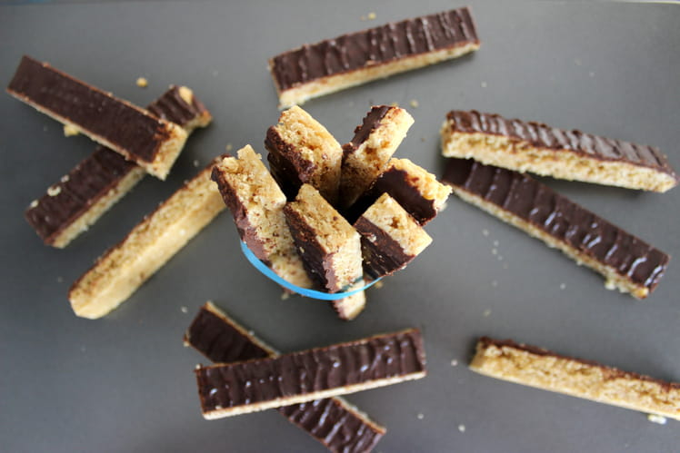 Cookies sticks chocolat-noix de coco