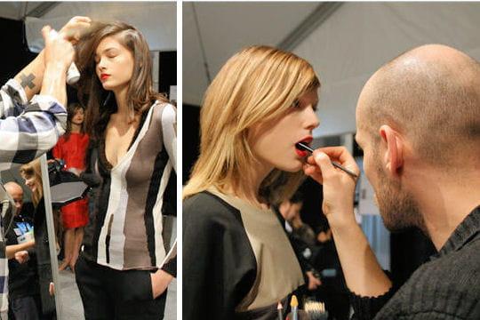Fashion week : défilé Guy Laroche, prêt-à-porter automne-hiver 2011-2012 retouche coiffure make up