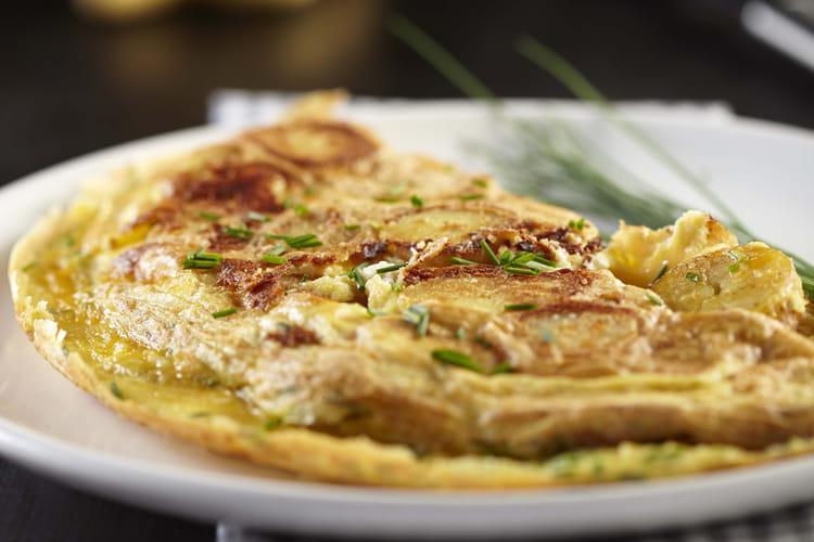 Omelette de pommes de terre Ratte du Touquet