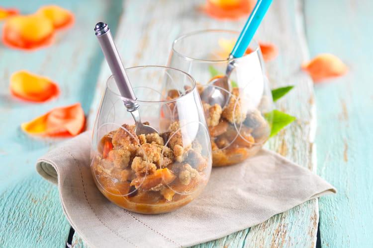Crumble de mirabelles au souchet sans gluten