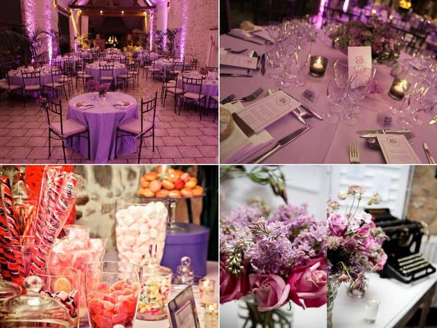 Mariage violet : Com'une orchidée