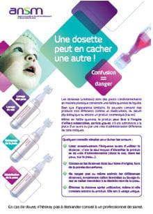 affiche ansm dosettes bebe 220