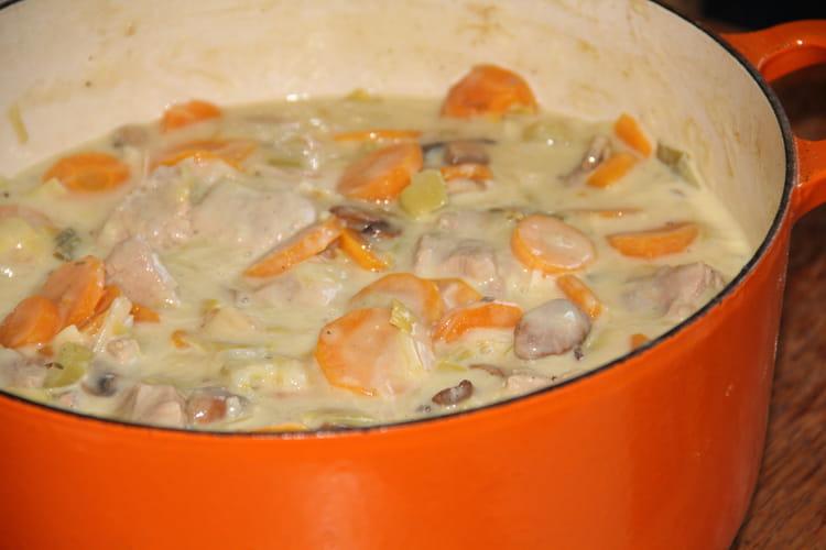 Blanquette de veau, poireaux et carottes à la vanille