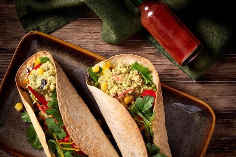 Tacos croustillants revisités tartinables crevettes façon Thaï Cap Océan