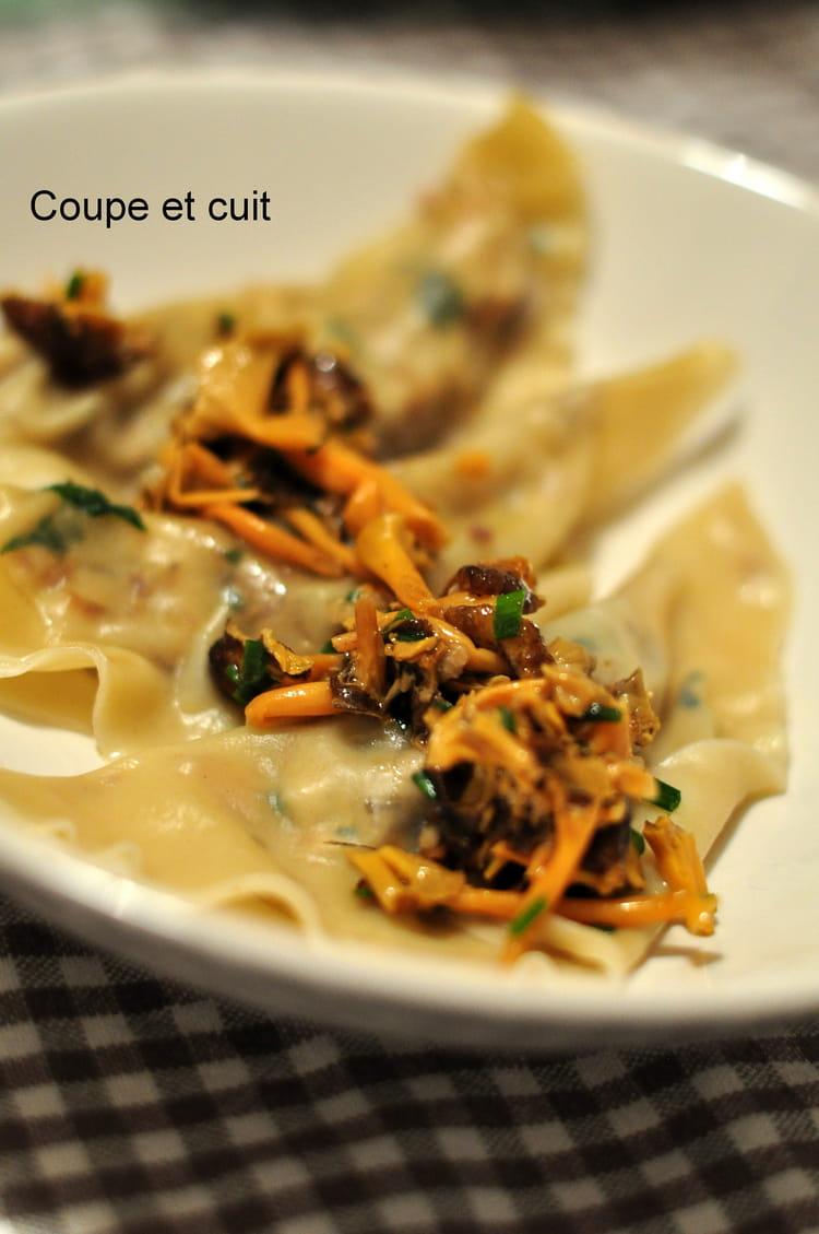 Recette de ravioles dinde foie gras po l e de - Cuisiner la chanterelle ...