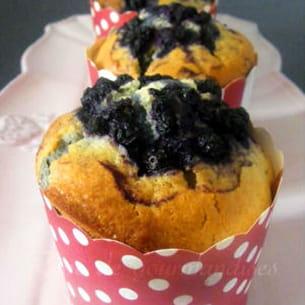 muffins aux myrtilles, citron et huile d'olive