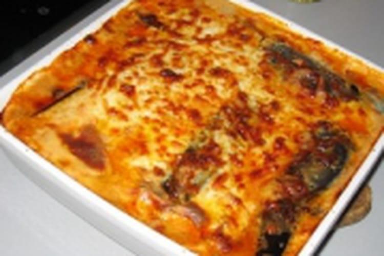 Lasagnes au bœuf, courgettes et aubergines