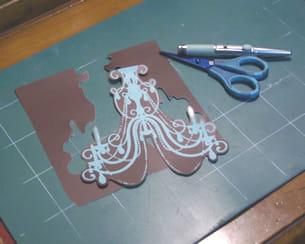 embellissement du papier lustre