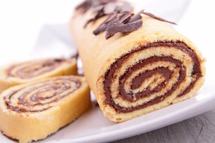 Gâteau roulé au Nutella gourmand