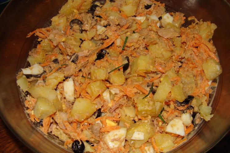 Salade du pêcheur, thon, pommes de terre