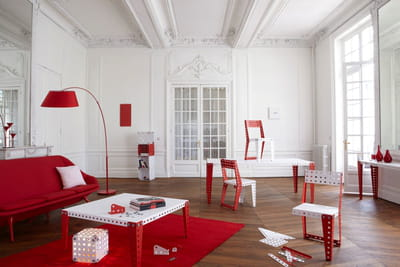 meccano home rouge blanc