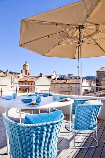 Sur les toits de Saint-Tropez