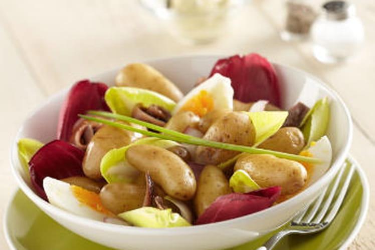 Salade estivale de Ratte du Touquet aux endives