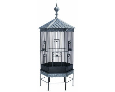 cage à oiseaux en zinc de the conran shop